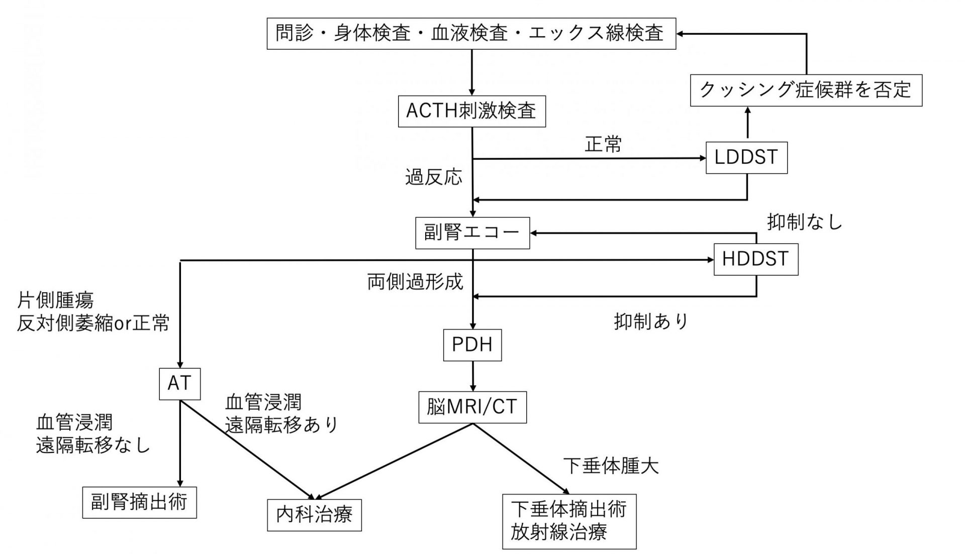 クッシング検査チャート