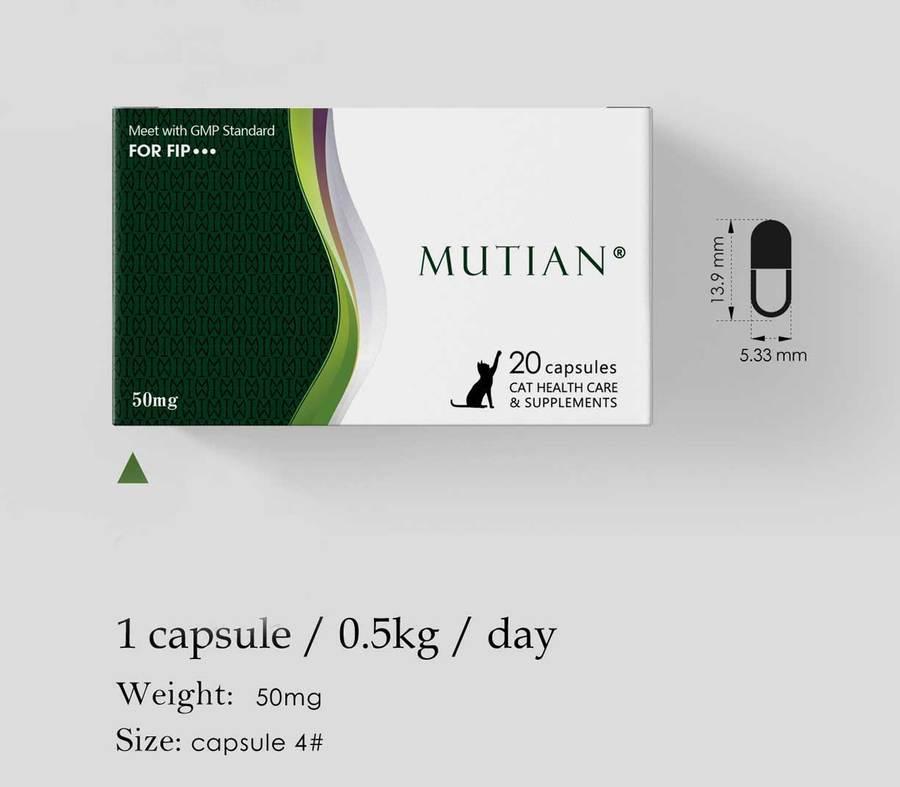 Mutian Capsules (50 mg x 10 capsules)