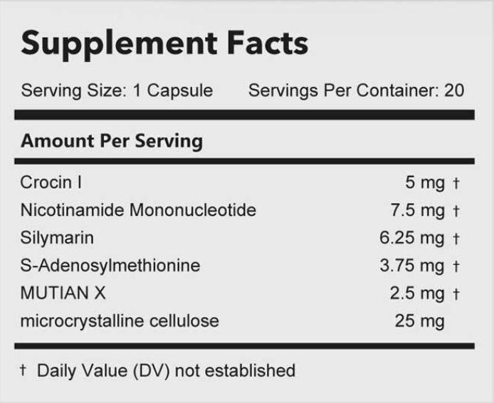 Mutian Capsules (50 mg x 10 capsules)成分